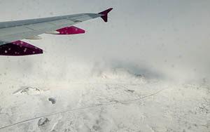 Landeanflug auf Keflavik - Island