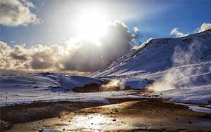 Seltún - Krýsuvík ein Solfatarengebiet auf der Reykjanes-Halbinsel im Reykjanes UNESCO Global Geopark