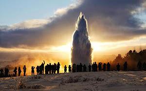 Geysir, Island - Iceland the Winterwonderland