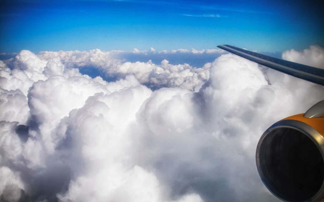 Flug von Frankfurt nach Island