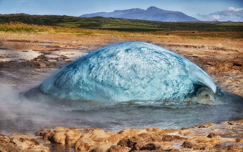 Geysir Strokkur – das Geothermalgebiet Haukadalur
