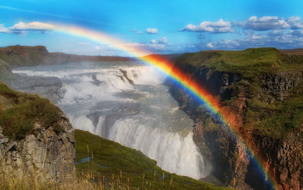 Gullfoss – der weltbekannte goldene Wasserfall