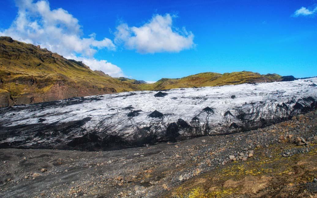 An der Gletscherzuge des Solheimajökull