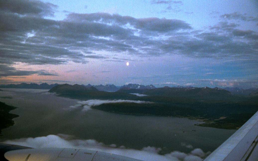 Flug von Tromsø nach Spitzbergen