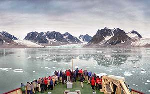 Waggonway Gletscher im Magdalenenfjord