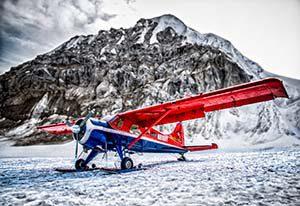 Gletscherlandung auf dem Denali - Mt. McKinley