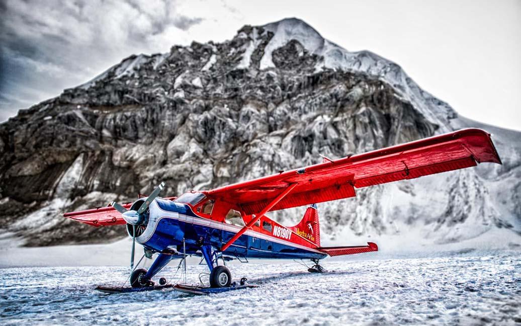 Gletscherlandung auf dem Denali (Mt. McKinley) mit dem Talkeetna Air Taxi