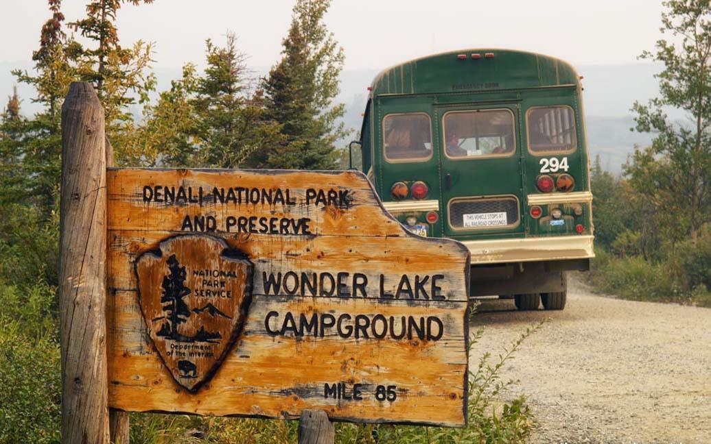 Mit dem Bus zum Wonder Lake im Denali Nationalpark