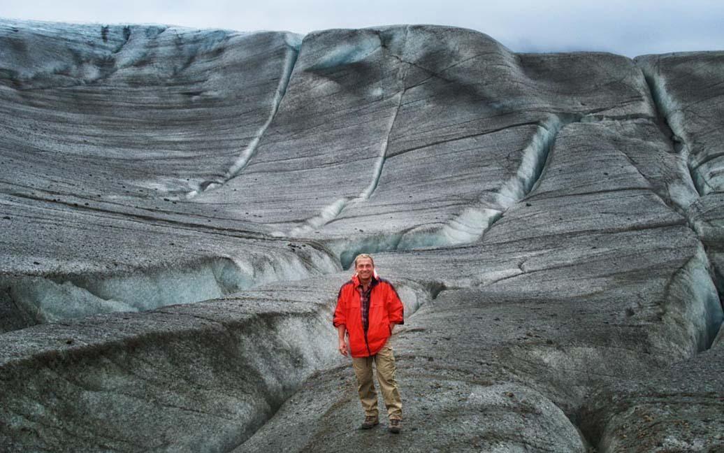 Befinde mich auf dem ewigen Eis des Root-Glacier