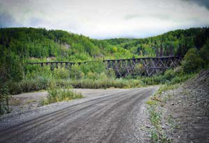 Eisenbahnbrücke an der McCarthy Road