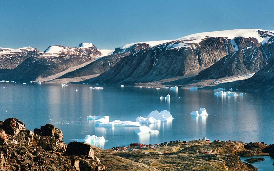Blick vom Blue Lake auf Uummannaq
