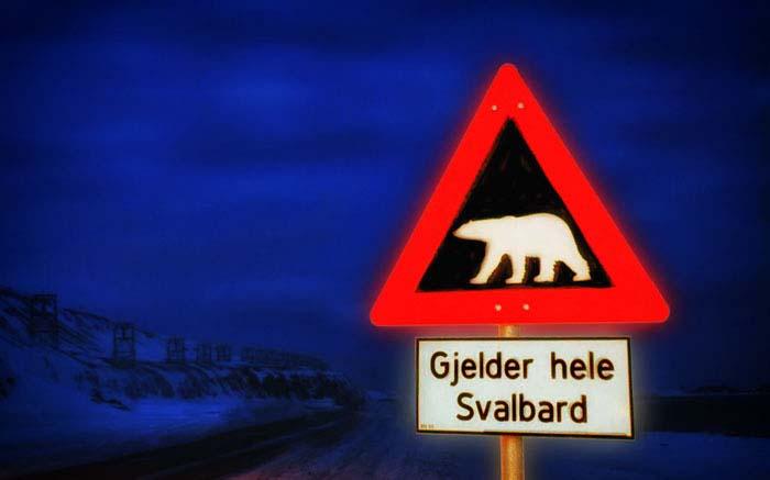 Ankunft in Longyearbyen bei -30,5°C
