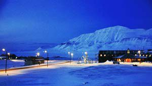 Longyearbyen im Winter